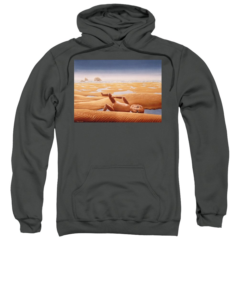 Surreal Sweatshirt featuring the painting Lost In A Dream by Mark Cawood