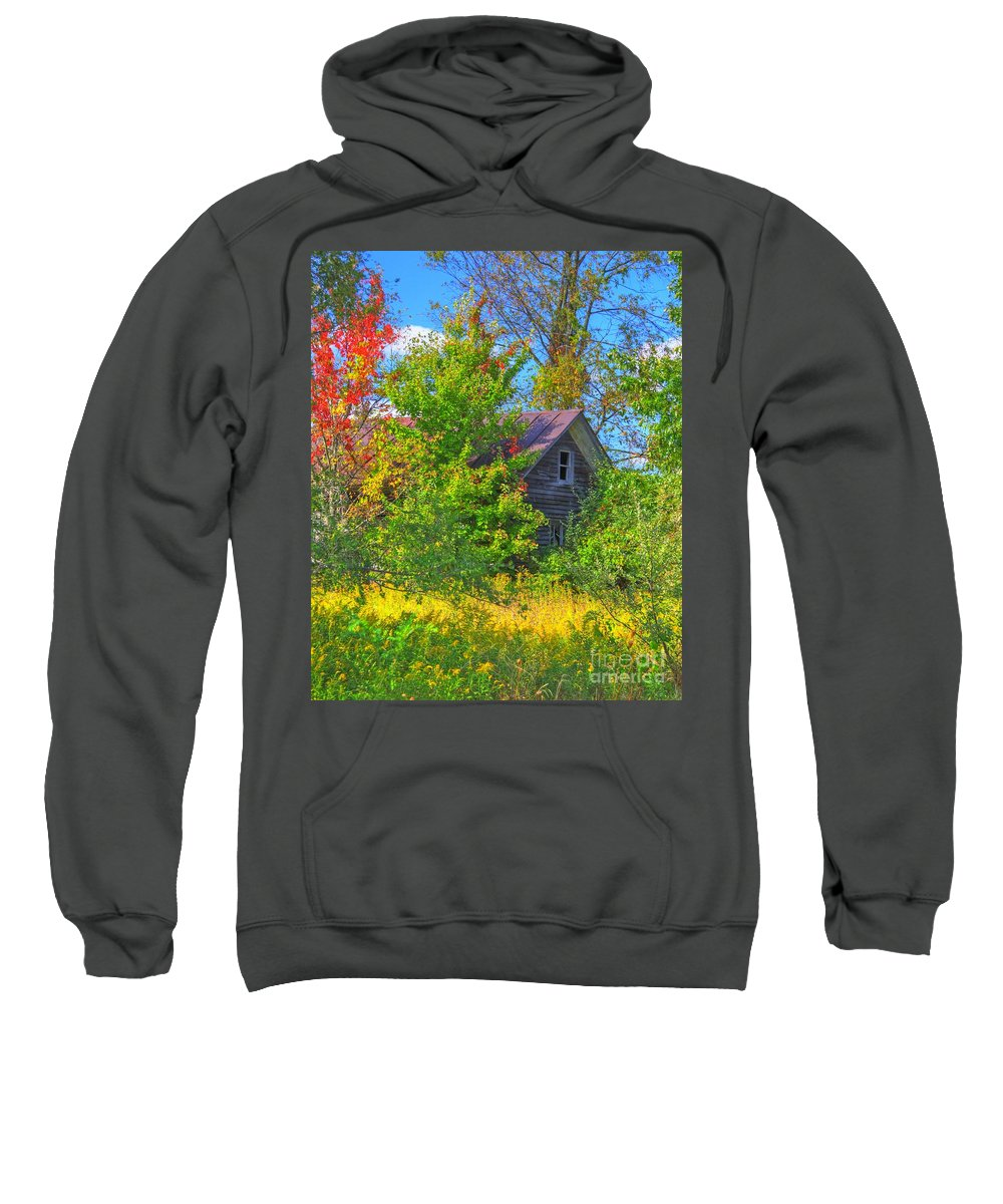 Farm House Sweatshirt featuring the photograph Lost In The Woods by Robert Pearson