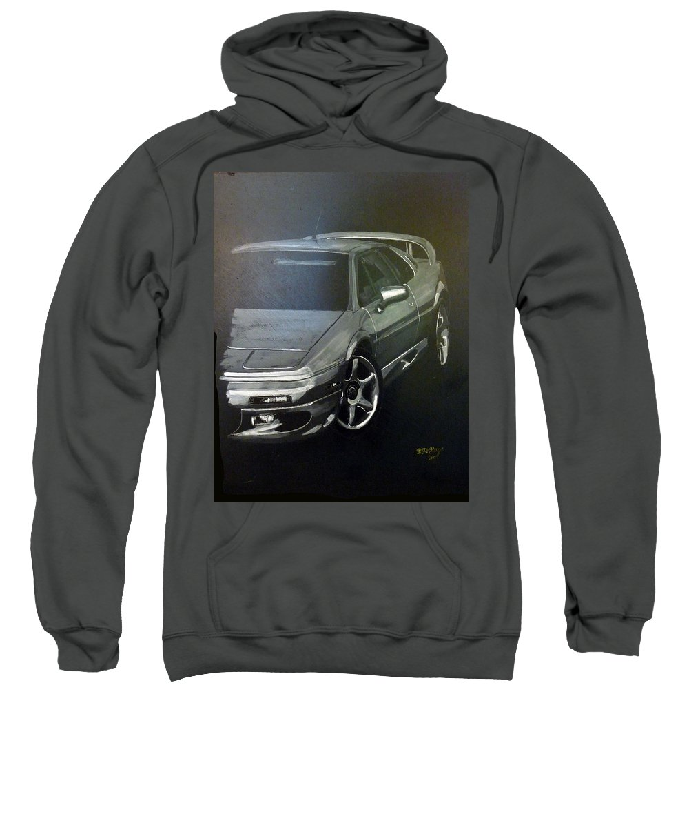 Lotus Esprit Sweatshirt featuring the painting Lotus Esprit by Richard Le Page