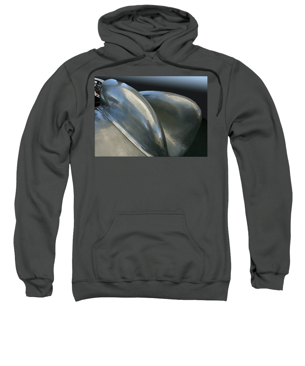 Automobile Sweatshirt featuring the photograph Lotus Position by Alan Olmstead