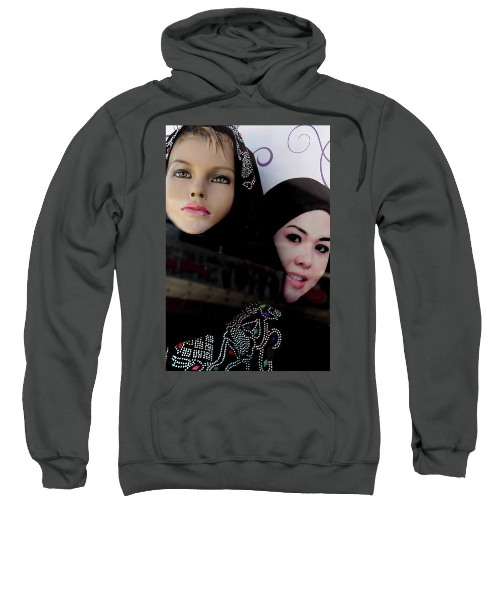 Jezcself Sweatshirt featuring the photograph Lou And Tina by Jez C Self