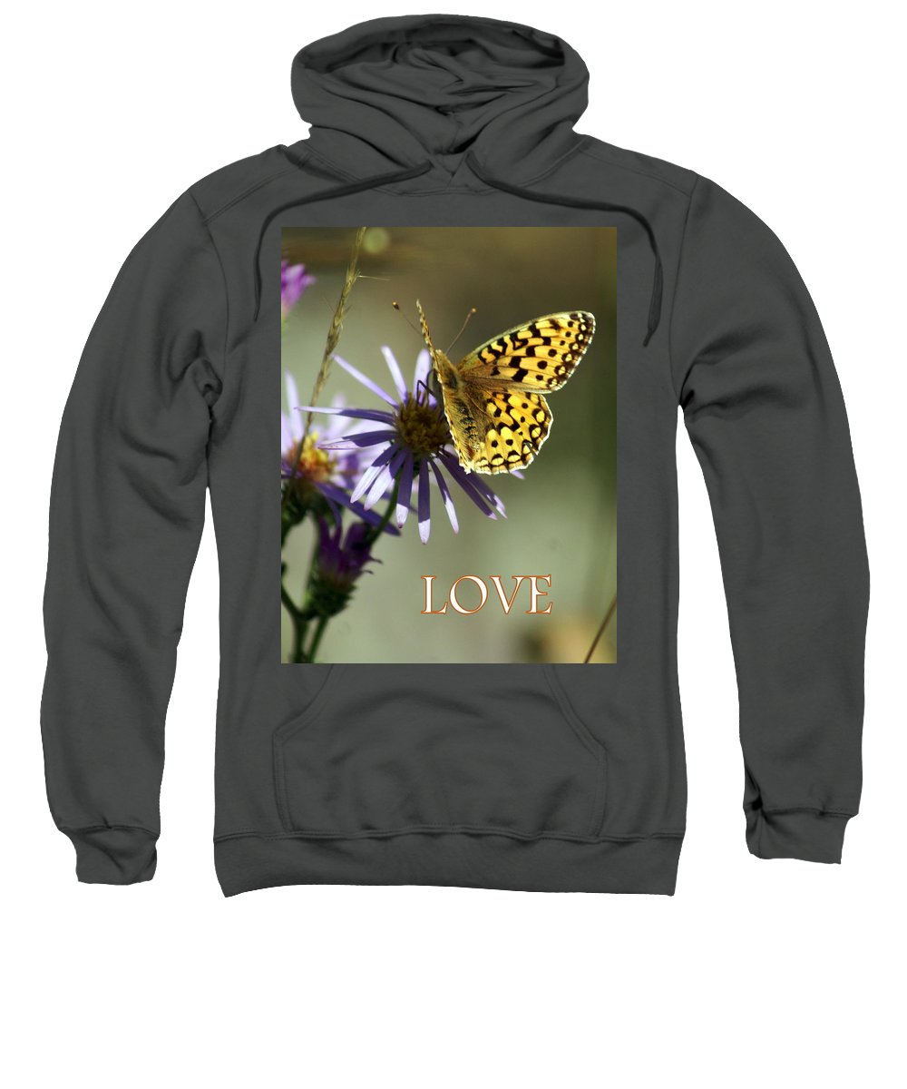 Love Sweatshirt featuring the greeting card Love 1 by Marty Koch