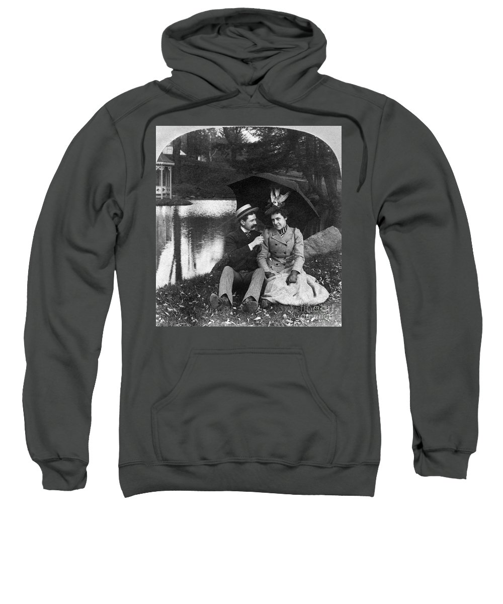 1900 Sweatshirt featuring the photograph Love, 1900 by Granger