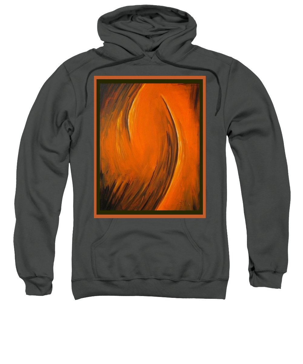 Abstraction Sweatshirt featuring the painting Love by Dragica Micki Fortuna