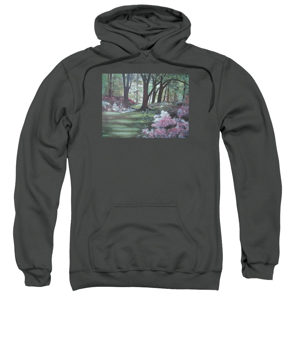 Charles Roy Smith Sweatshirt featuring the painting Love In Bloom by Charles Roy Smith