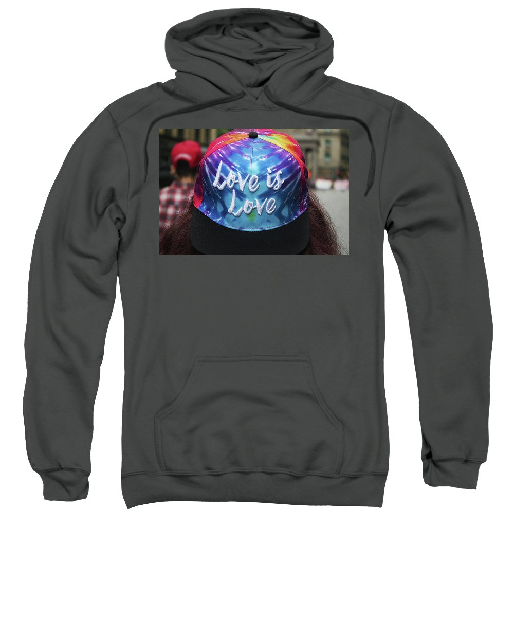 Love Is Love Sweatshirt featuring the photograph Love Is Love by Bruce Coulter
