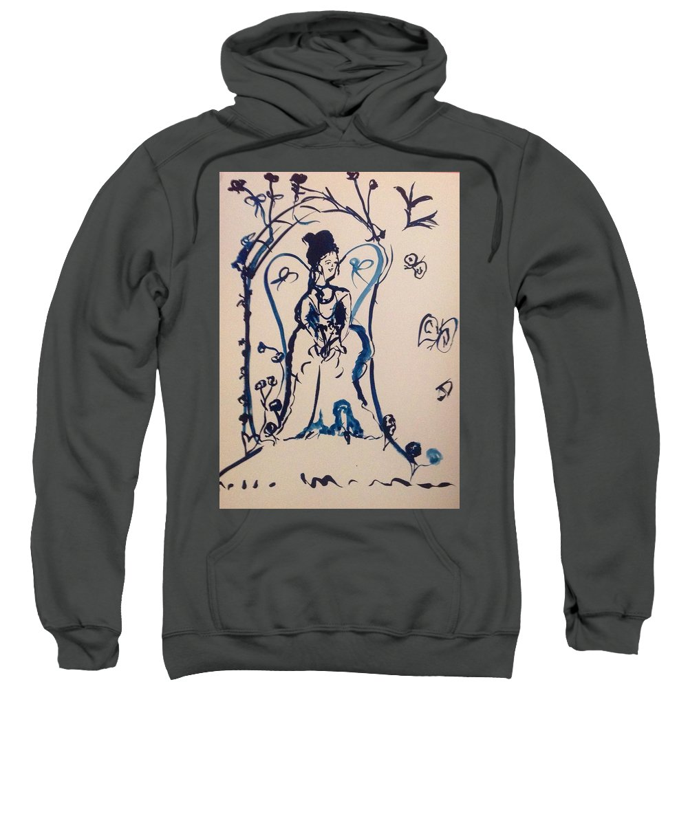 Bells Sweatshirt featuring the painting Love Is Waiting With Bells On by Judith Desrosiers