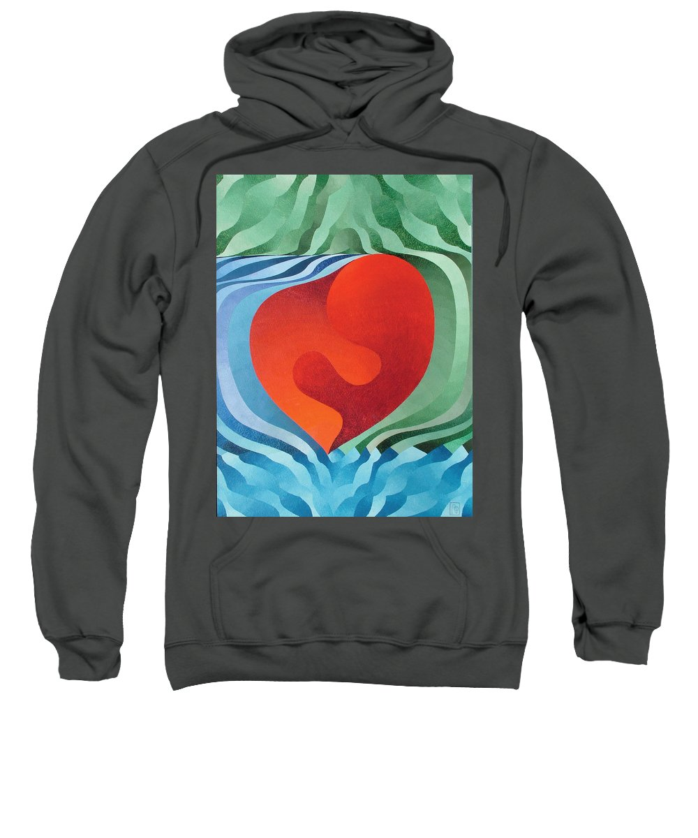 Oil Sweatshirt featuring the painting Love by Peter Antos