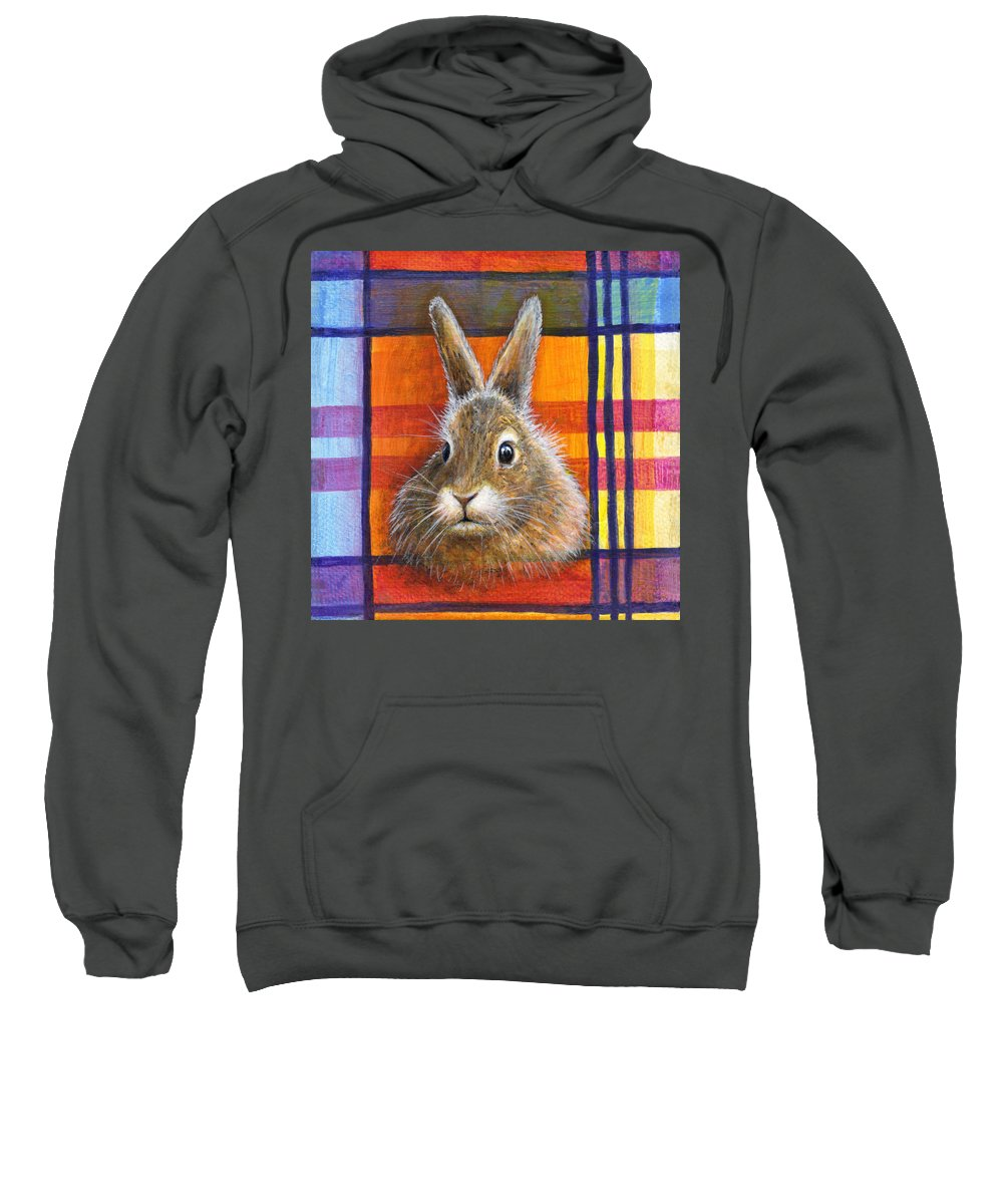 Rabbit Sweatshirt featuring the painting Love by Retta Stephenson
