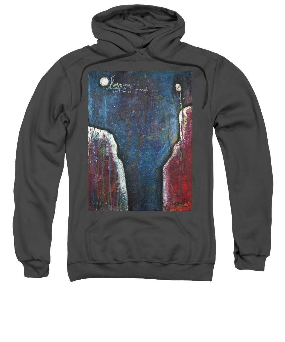 Love Sweatshirt featuring the painting Love Song by Laurie Maves ART