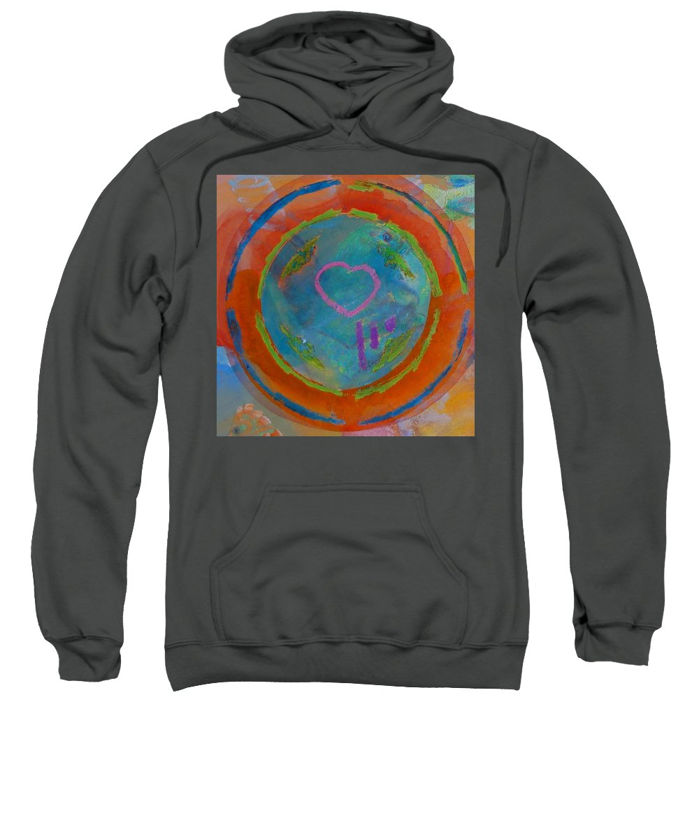 Logo Sweatshirt featuring the painting Love The Sea by Charles Stuart