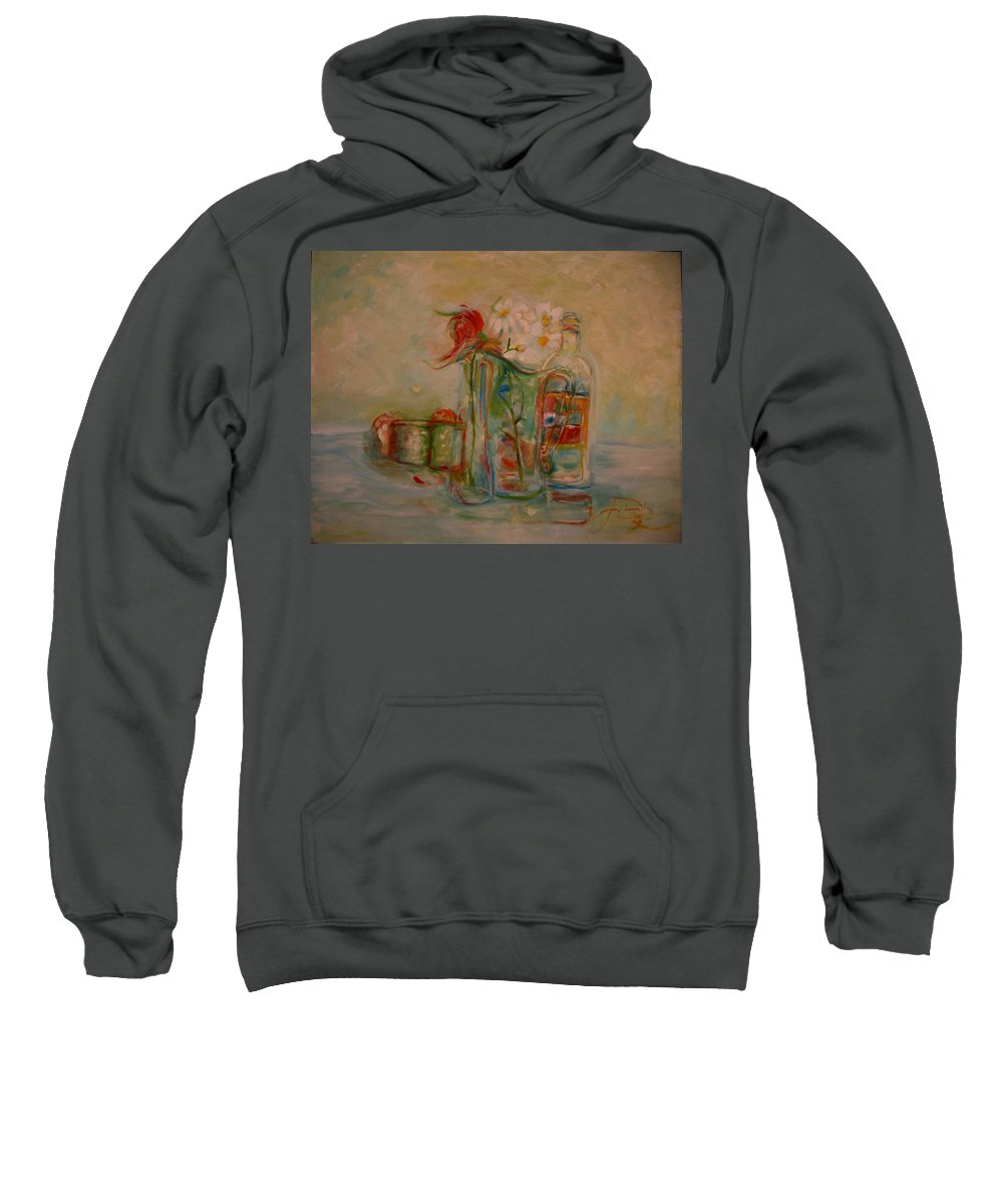 Rose Sweatshirt featuring the painting Lovers Picnic by Jack Diamond