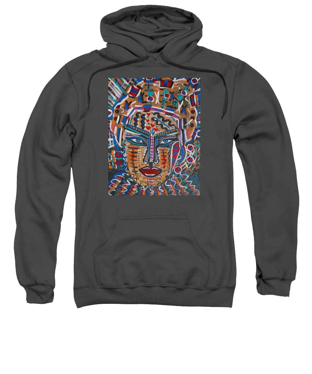 Abstract Sweatshirt featuring the painting Loviola by Natalie Holland