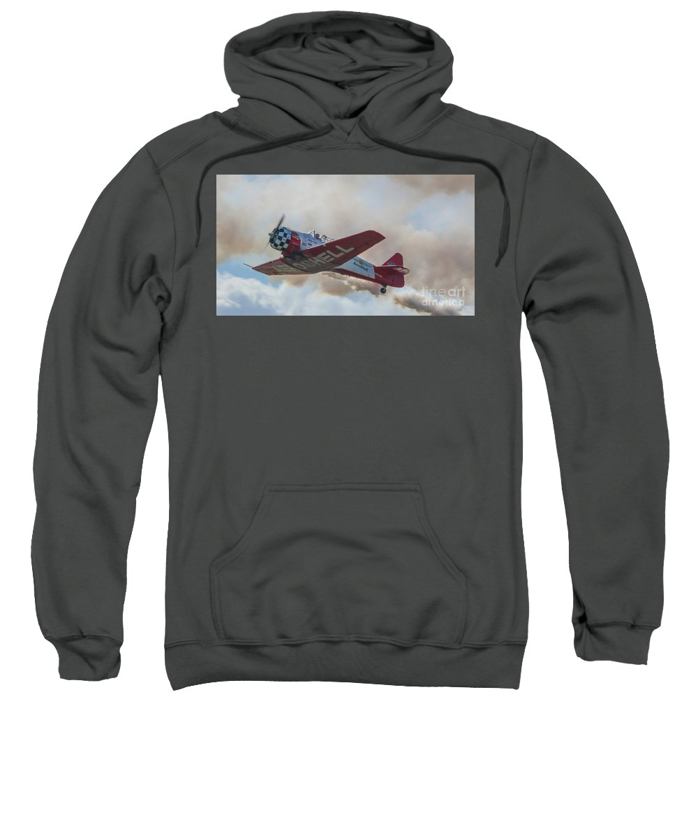 Plane Sweatshirt featuring the photograph Low Pass Stunt Plane by Tom Claud