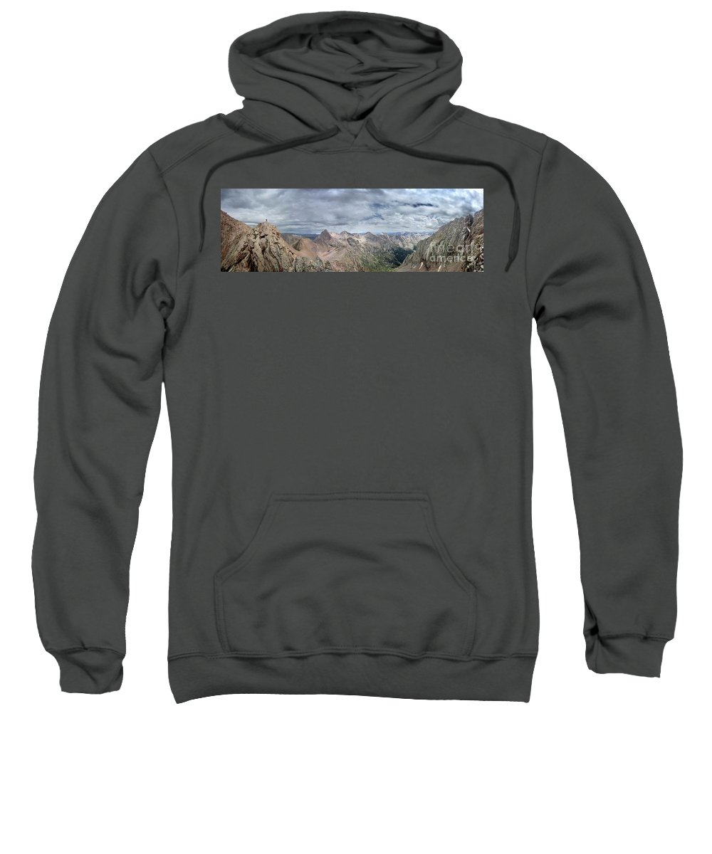 Colorado Sweatshirt featuring the photograph Lower North Eolus From The Catwalk - Chicago Basin - Weminuche Wilderness - Colorado by Bruce Lemons