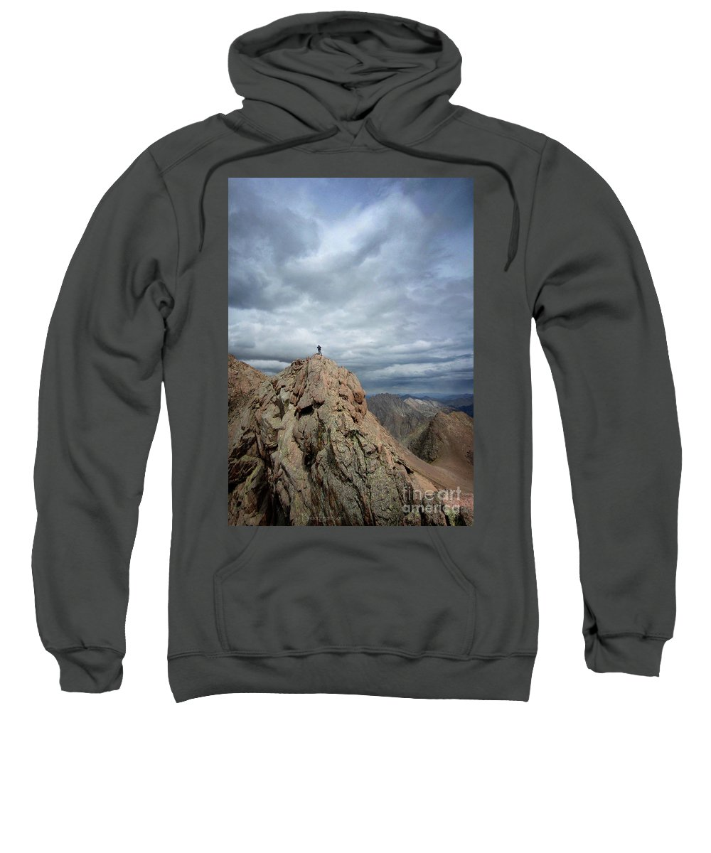 Colorado Sweatshirt featuring the photograph Lower North Eolus From The Catwalk Detail - Chicago Basin - Weminuche Wilderness - Colorado by Bruce Lemons