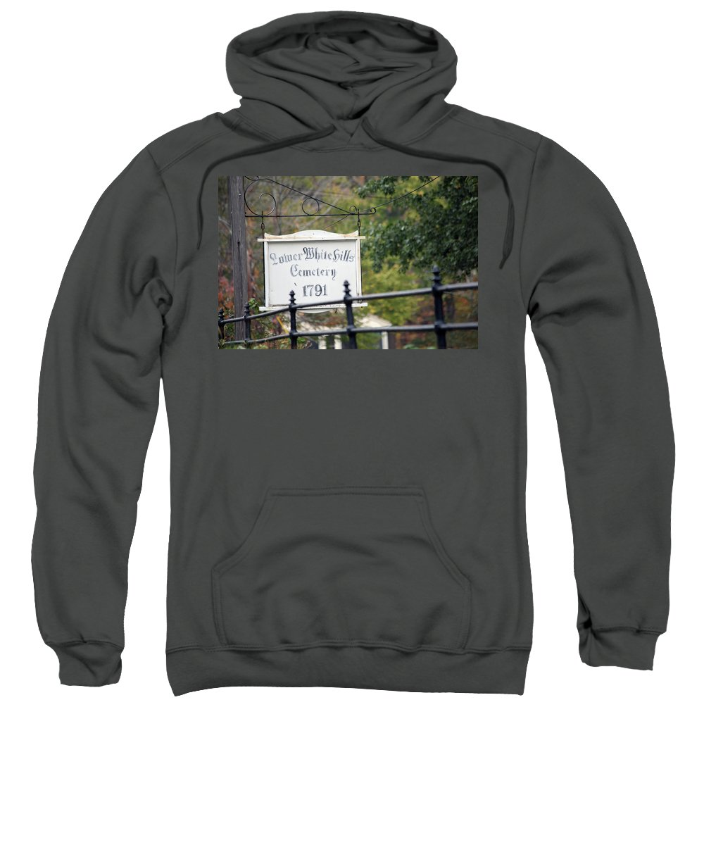Scenic Sweatshirt featuring the photograph Lower White Hills Cemetery by Karol Livote
