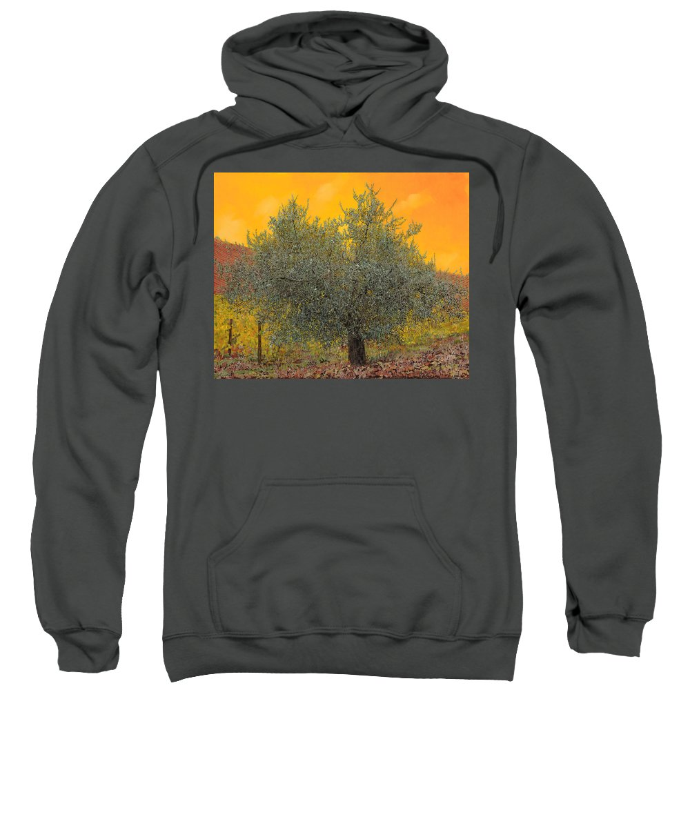 Olive Tree Sweatshirt featuring the painting L'ulivo Tra Le Vigne by Guido Borelli