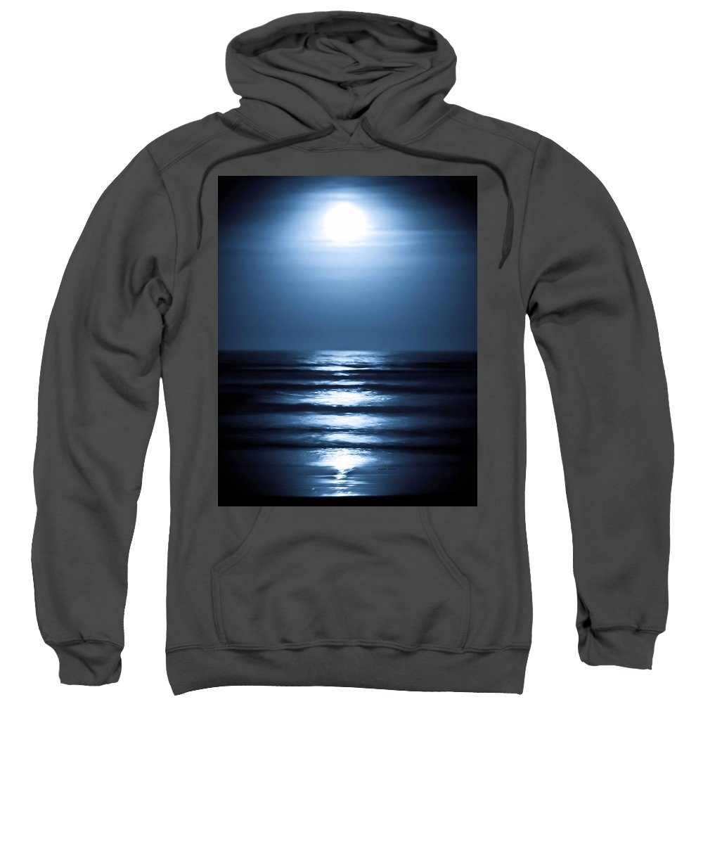 Lunar Sweatshirt featuring the photograph Lunar Dreams by DigiArt Diaries by Vicky B Fuller
