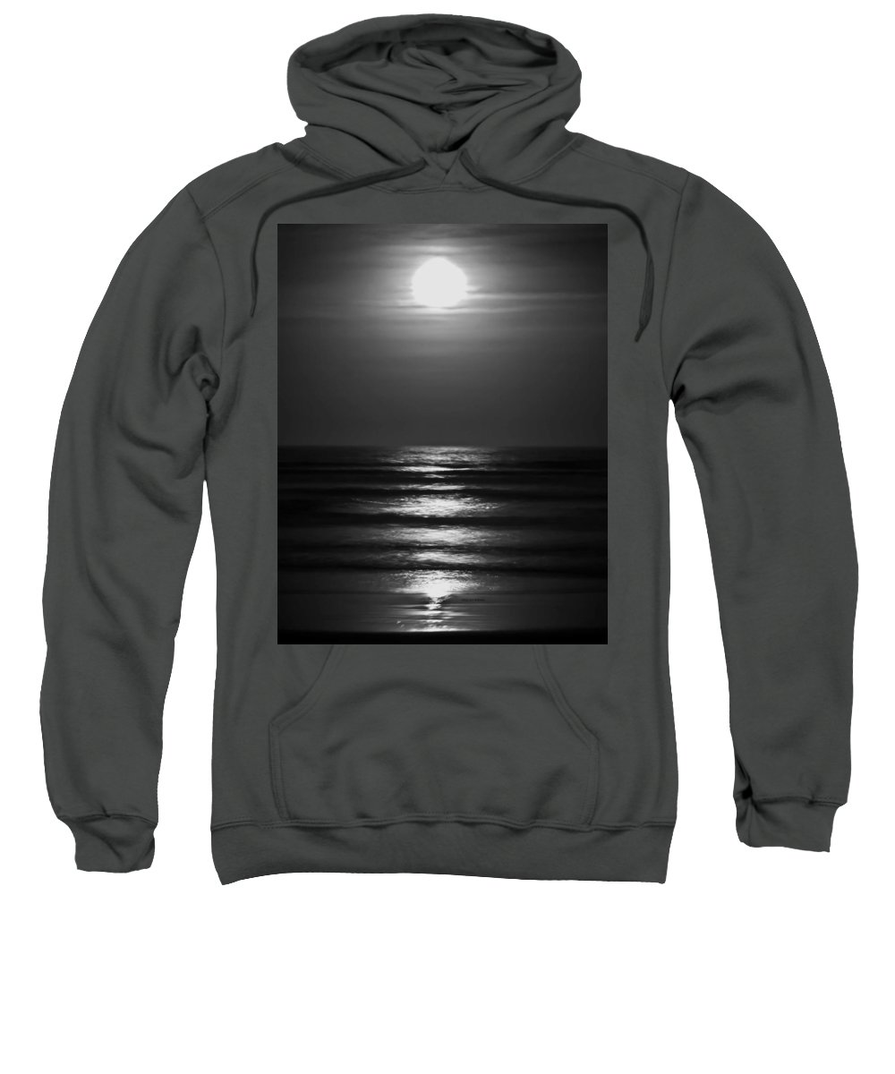 Moon Sweatshirt featuring the digital art Lunar Tides by DigiArt Diaries by Vicky B Fuller