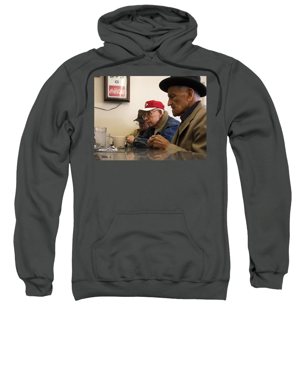 Diner Sweatshirt featuring the photograph Lunch Counter Boys by Tim Nyberg