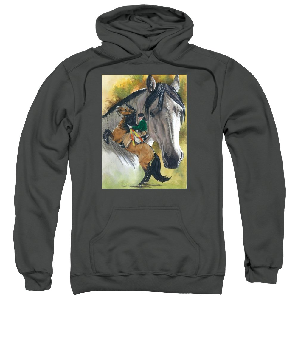 Hoof Stock Sweatshirt featuring the mixed media Lusitano by Barbara Keith
