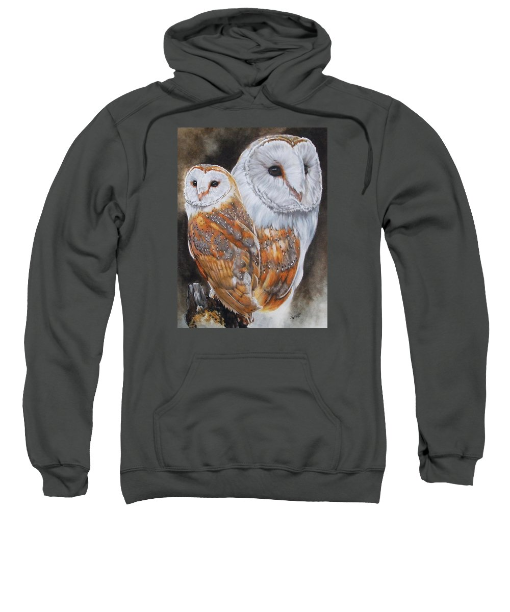 Bird Sweatshirt featuring the mixed media Luster by Barbara Keith