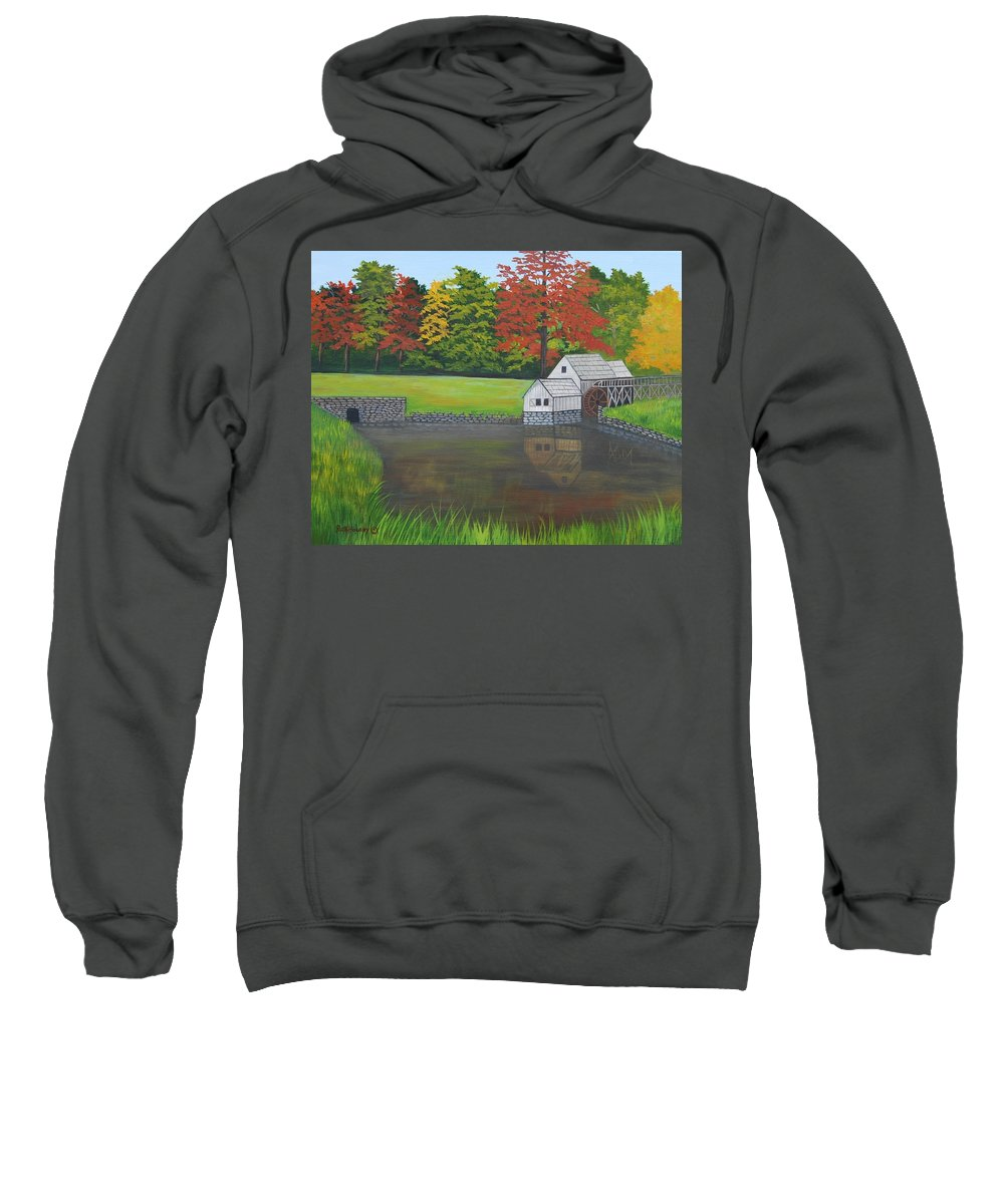 Landscape Sweatshirt featuring the painting Mabry Grist Mill by Ruth Housley