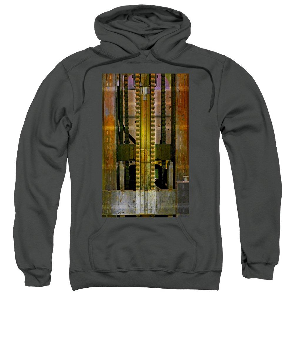 Texture Sweatshirt featuring the photograph Machina by Skip Hunt