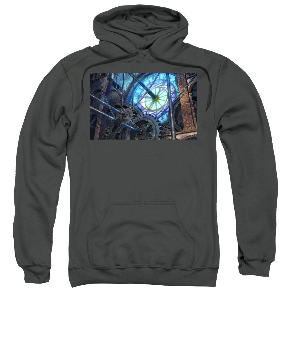 Machine Sweatshirt featuring the digital art Machine by Bert Mailer