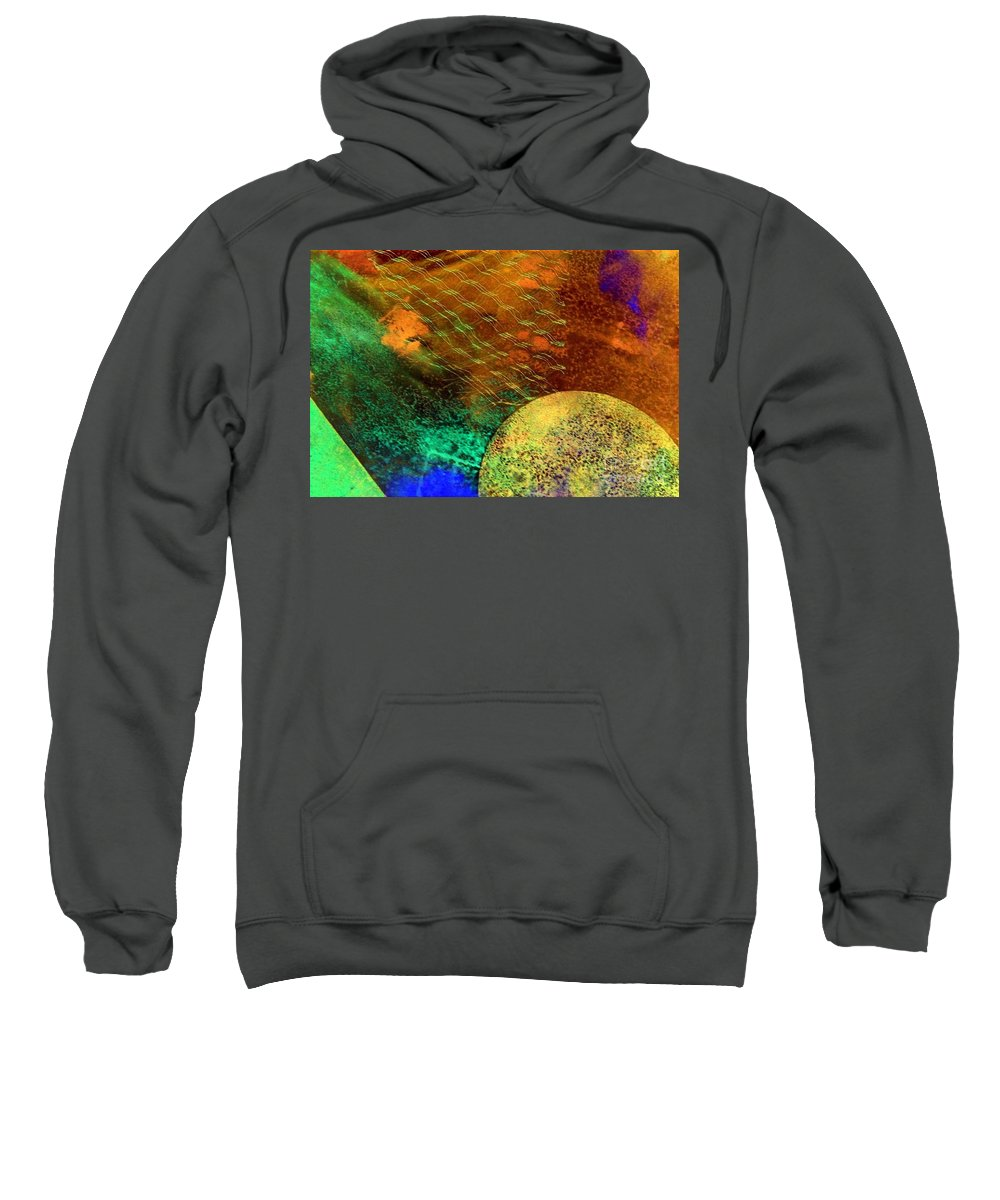 Mad Mad World Sweatshirt featuring the painting Mad Mad World by Dawn Hough Sebaugh