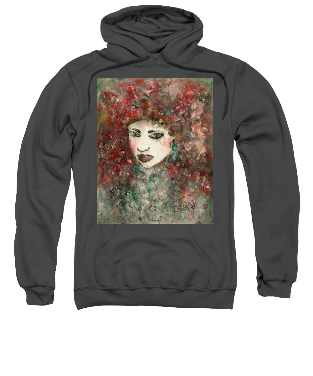 Mademoiselle Sweatshirt featuring the painting Mademoiselle by Natalie Holland