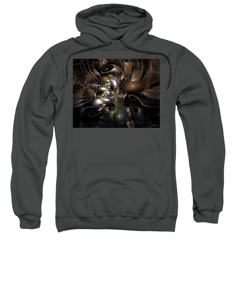 Abstract Sweatshirt featuring the photograph Maelstrom In The Myringa by Casey Kotas