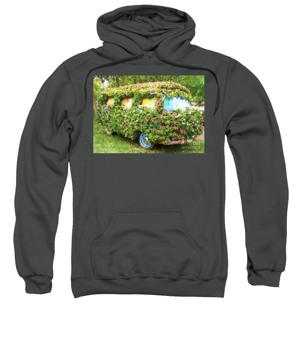 Volkswagen Sweatshirt featuring the photograph Magic Bus by Debbi Granruth