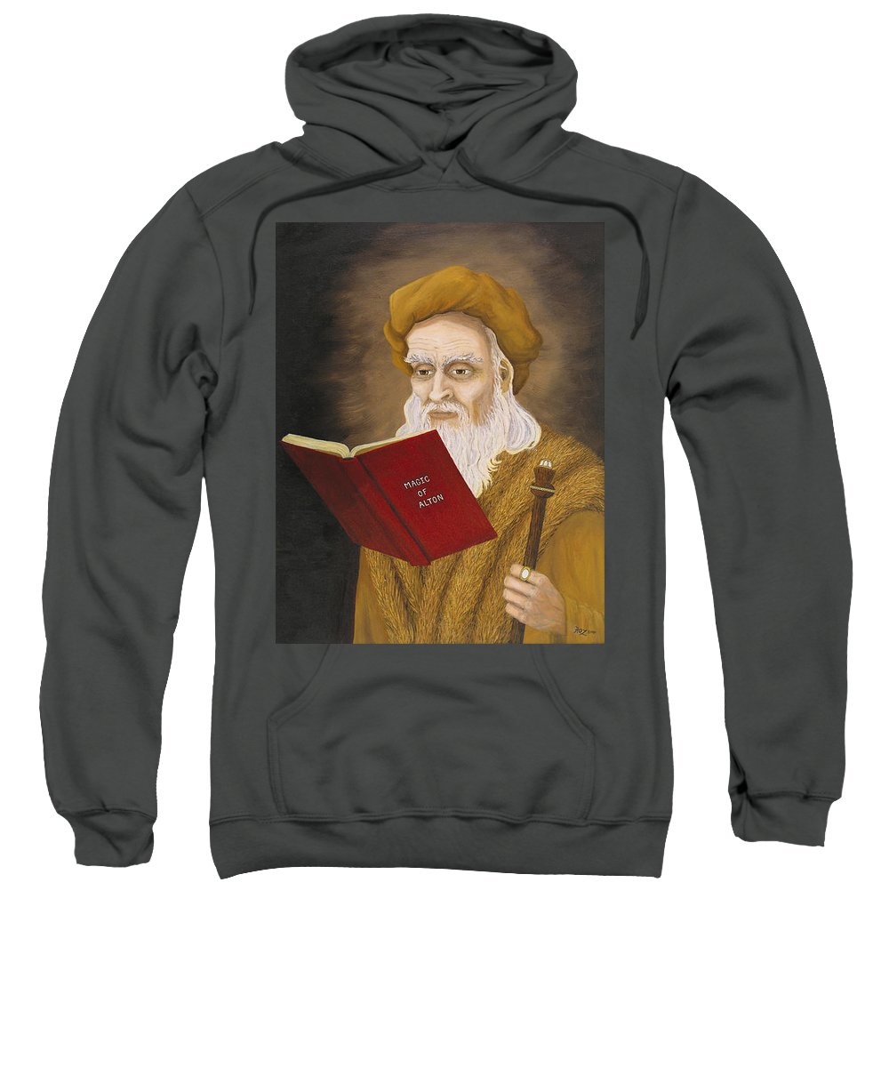 Magic Sweatshirt featuring the painting Magic Of Alton by Roz Eve