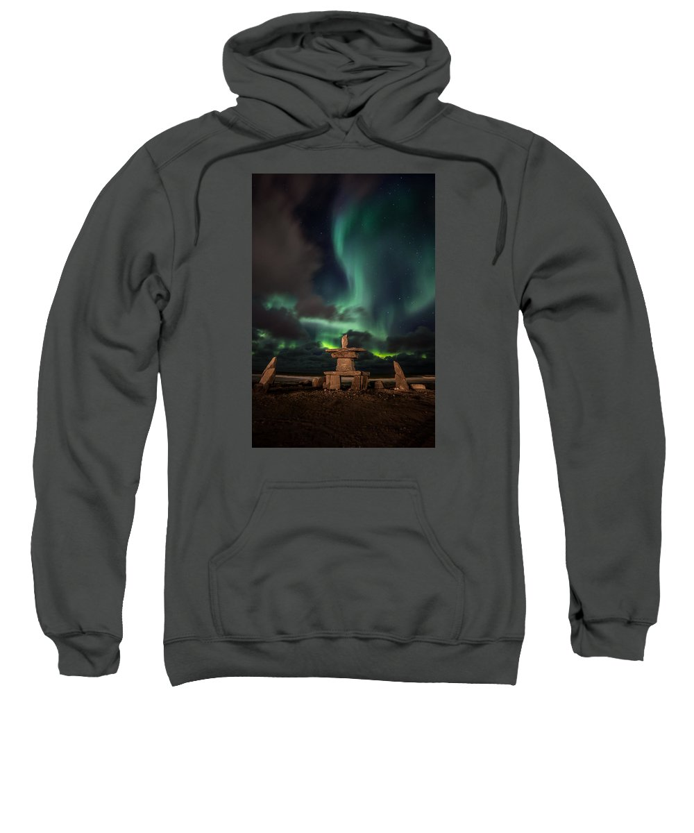 Sweatshirt featuring the photograph Magical Aurora by J and j Imagery