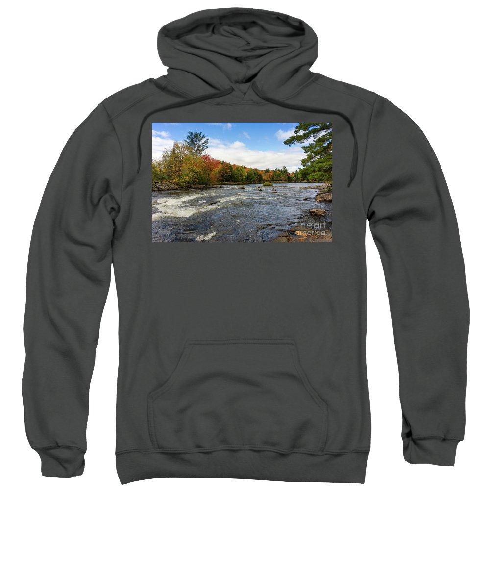 Magnetawan Sweatshirt featuring the photograph Magnetawan River In Fall by Les Palenik
