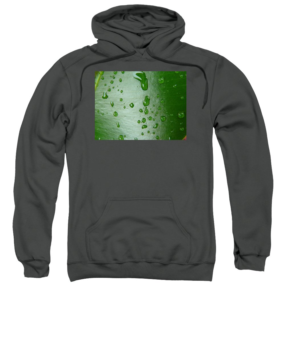 Leave Sweatshirt featuring the photograph Magnifying Drops by Valerie Ornstein