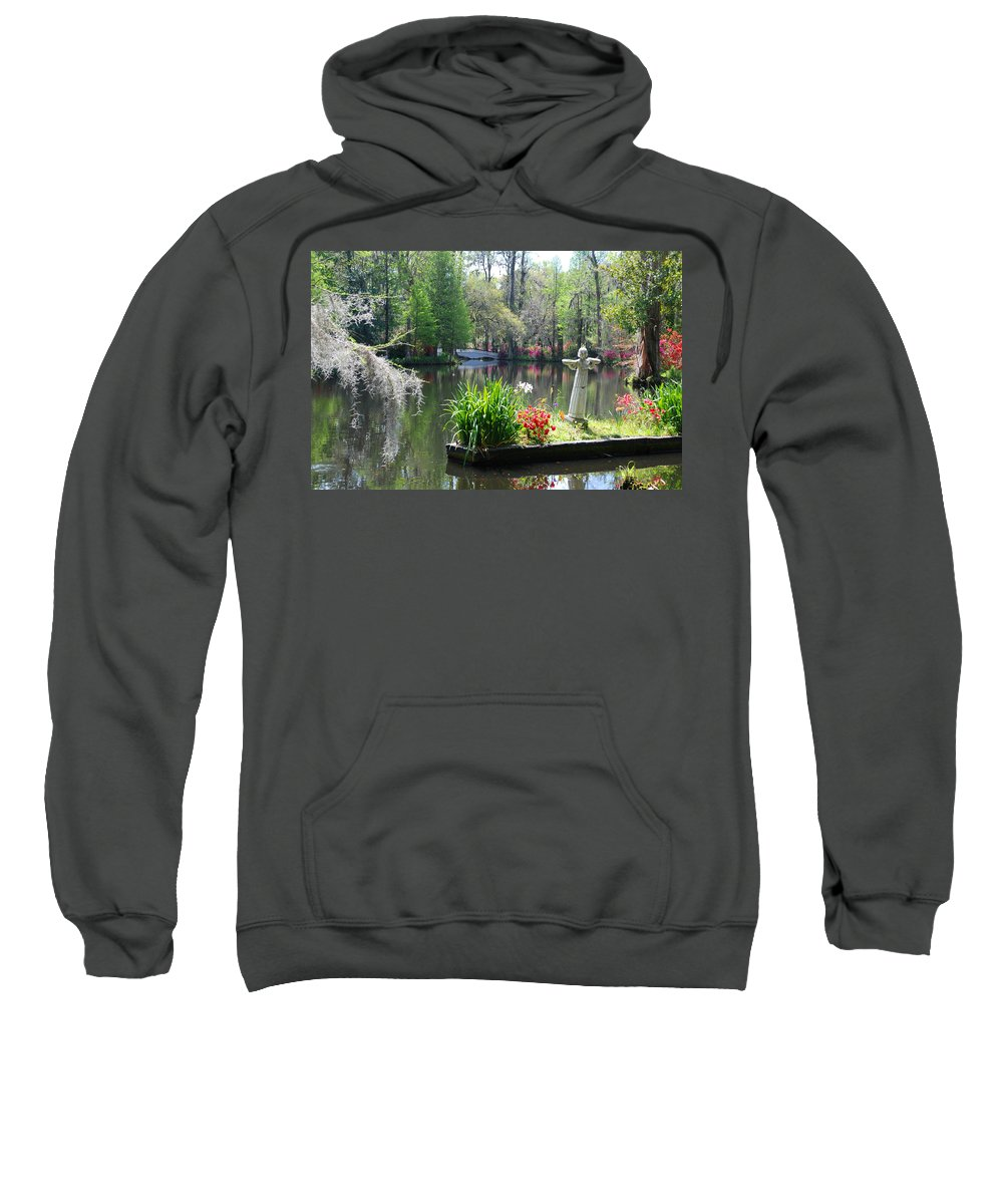Photography Sweatshirt featuring the photograph Magnolia Gardens In Charleston by Susanne Van Hulst