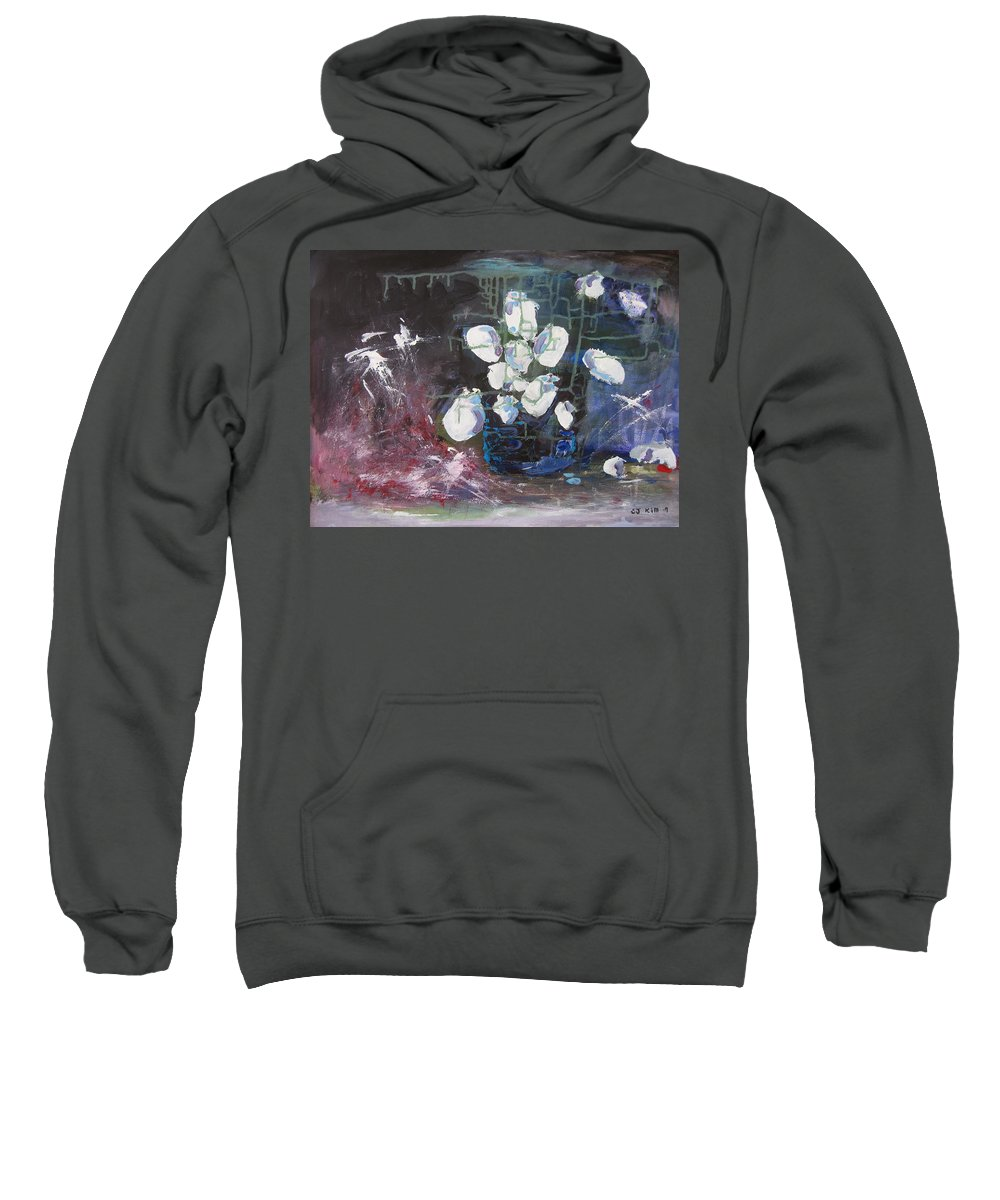 Abstract Paintings Sweatshirt featuring the painting Magnolia by Seon-Jeong Kim