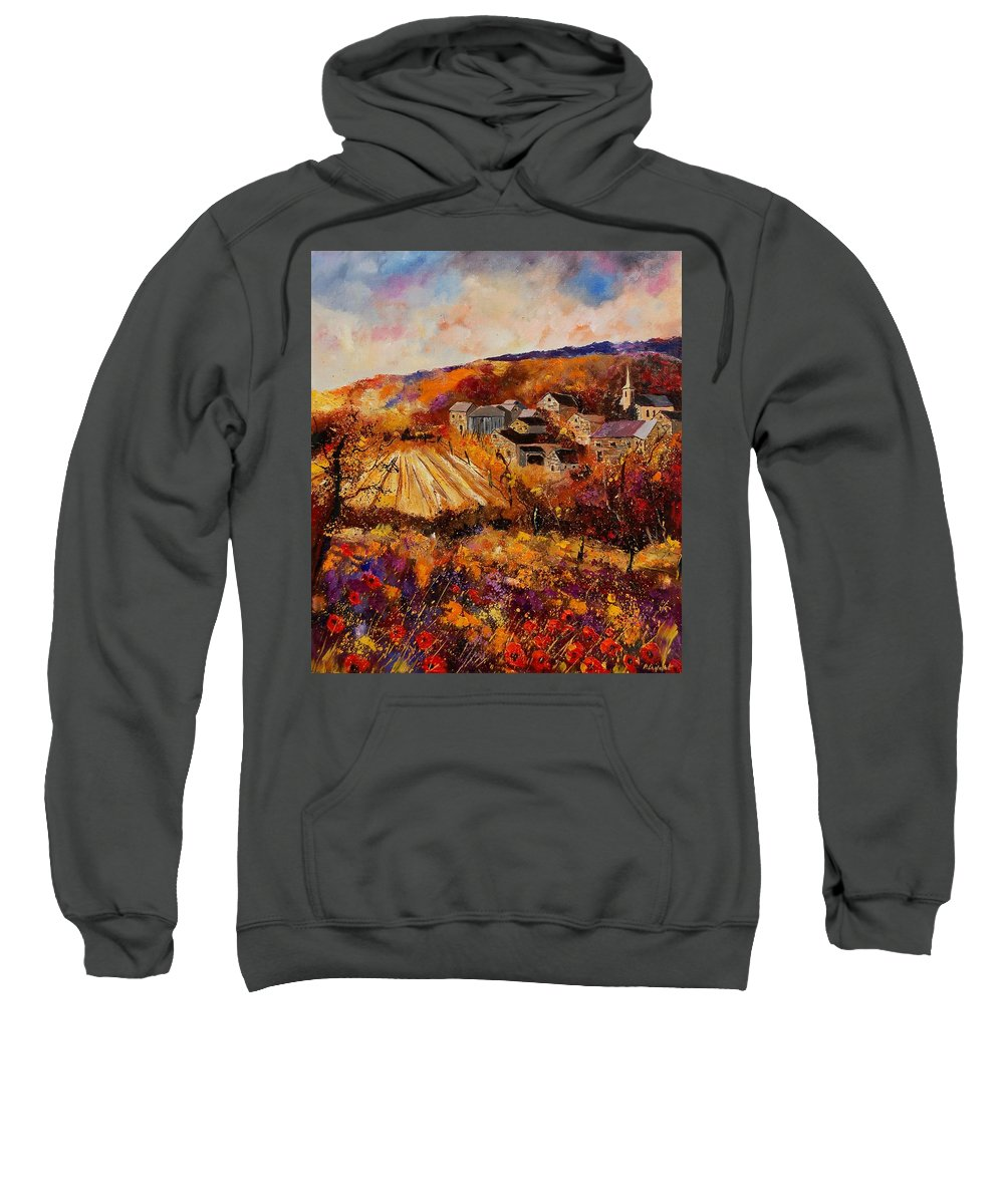 Poppies Sweatshirt featuring the painting Maissin by Pol Ledent