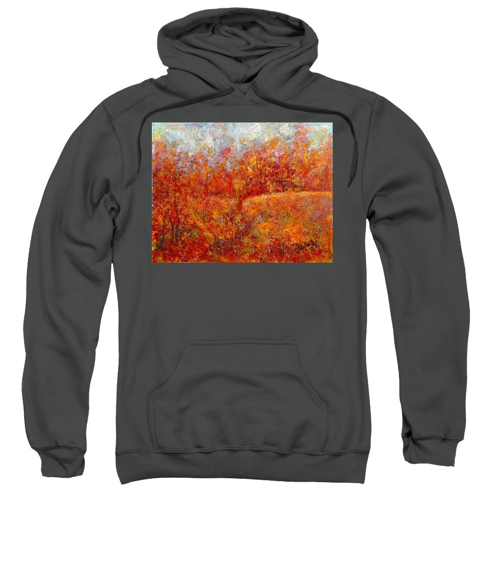Autumn Sweatshirt featuring the painting Majestic Autumn by Natalie Holland