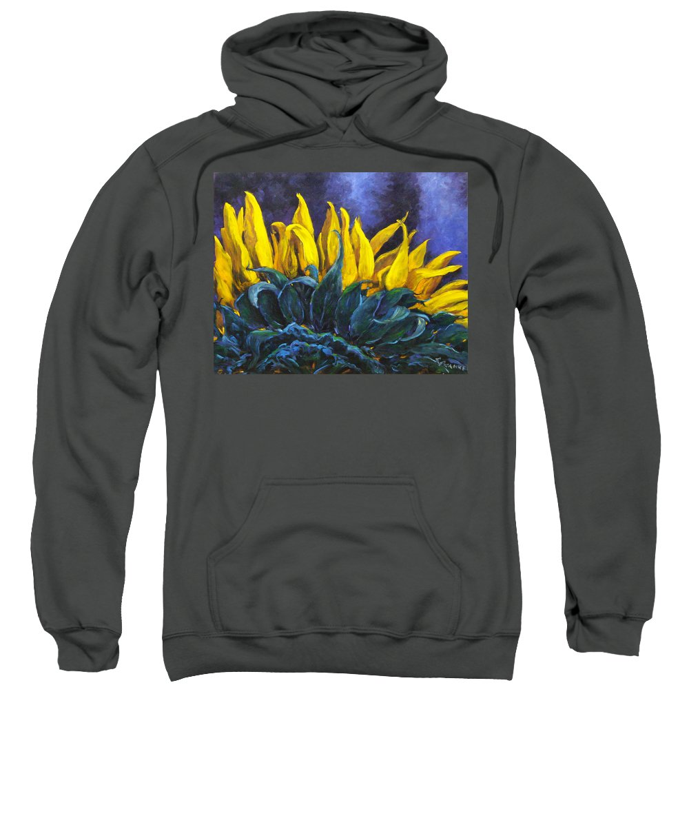 Flower Sweatshirt featuring the painting Majestica by Richard T Pranke