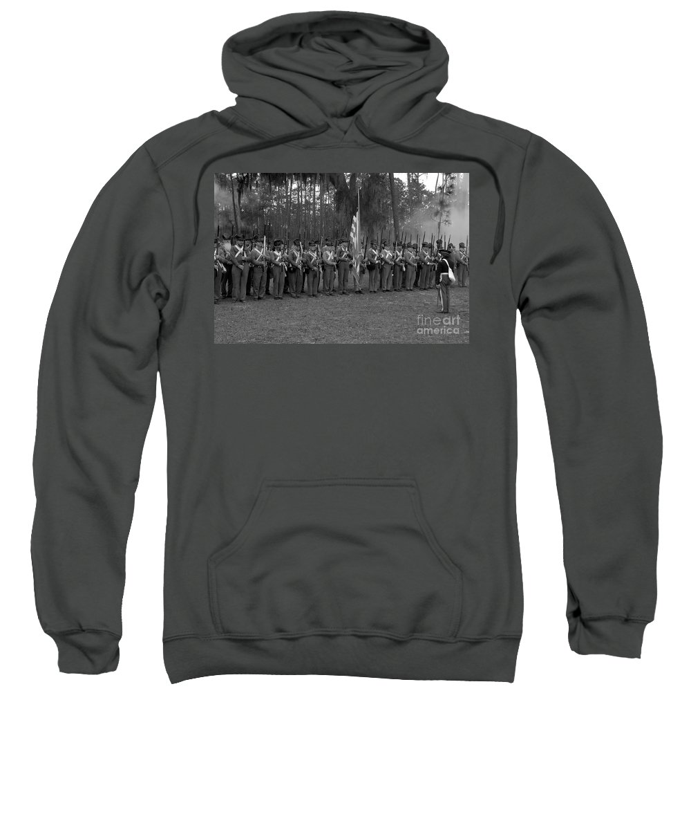 Dade Battlefield Sweatshirt featuring the photograph Major Dade's Men by David Lee Thompson
