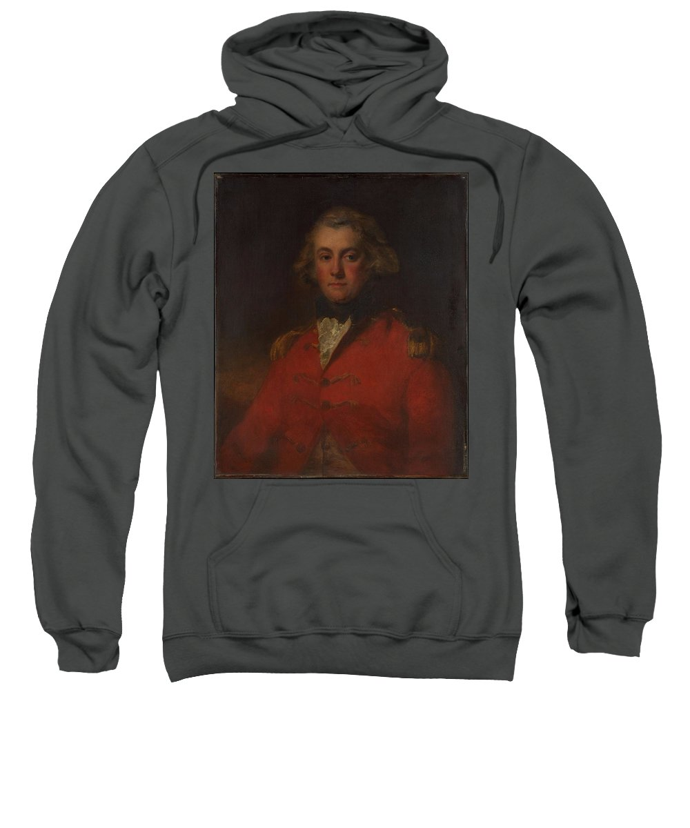 Major Thomas Pechell (1753�1826) Sweatshirt featuring the painting Major Thomas Pechell by MotionAge Designs