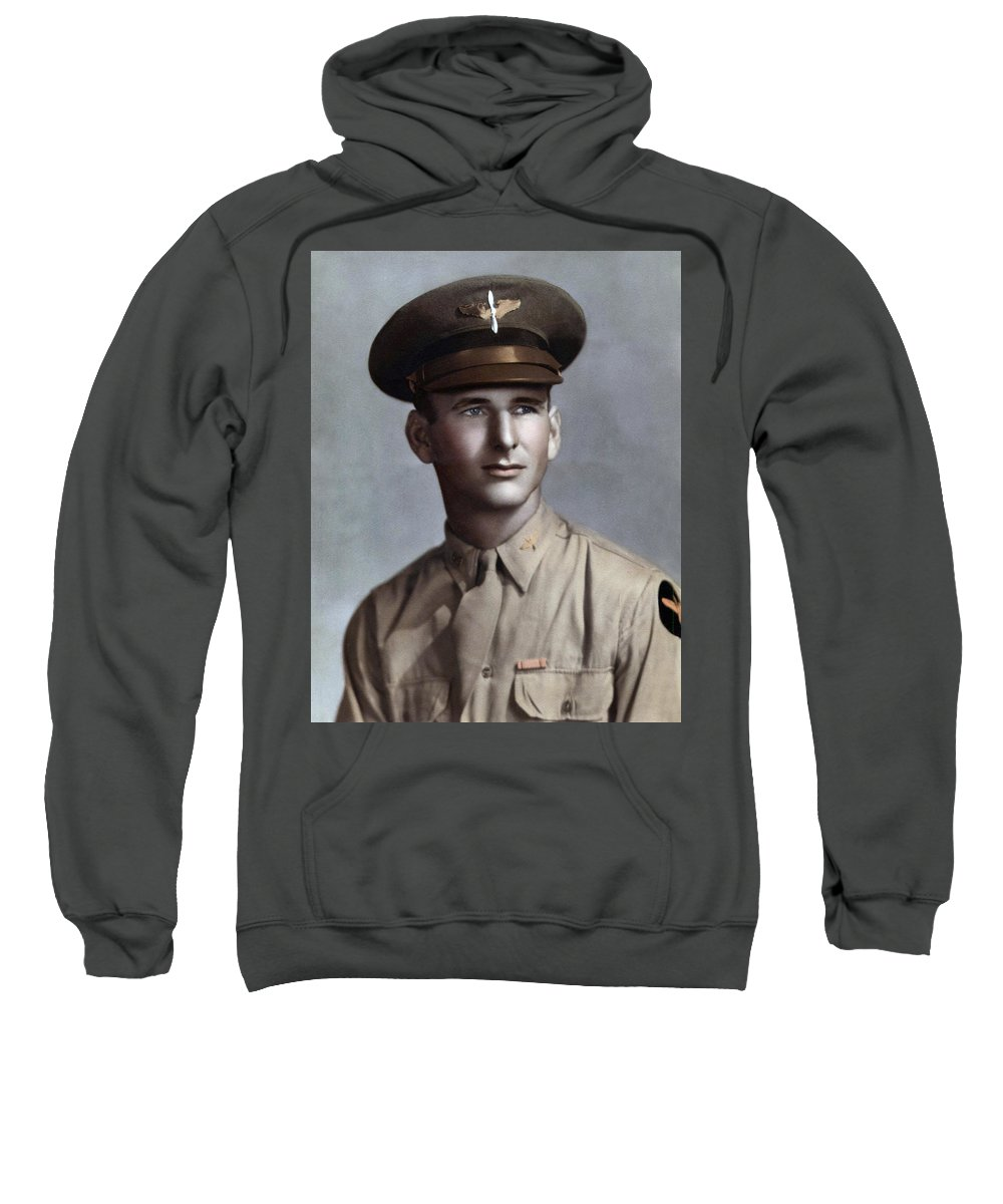 Photo Restoration Sweatshirt featuring the photograph Major Tom T. Leask by Peter Chilelli