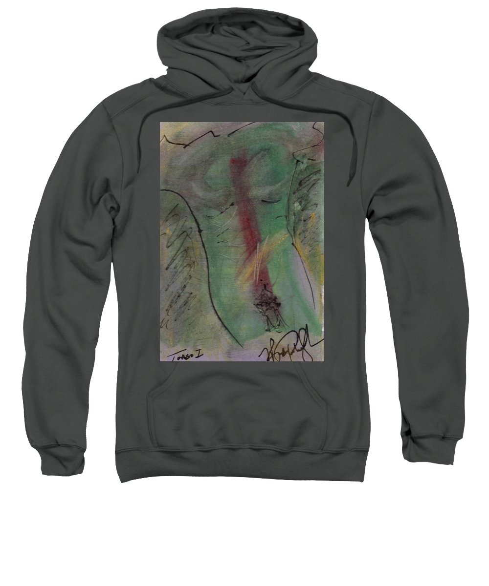 Nude Sweatshirt featuring the painting Male Nude Torso 1 by Wayne Potrafka