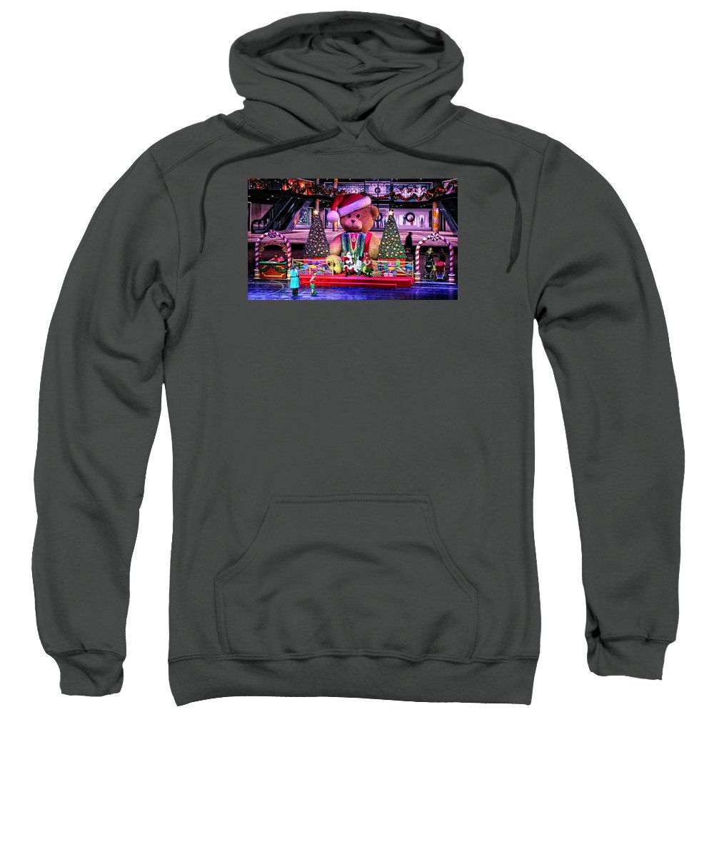 Mall Sweatshirt featuring the photograph Mall Santa With Child by Mike Martin