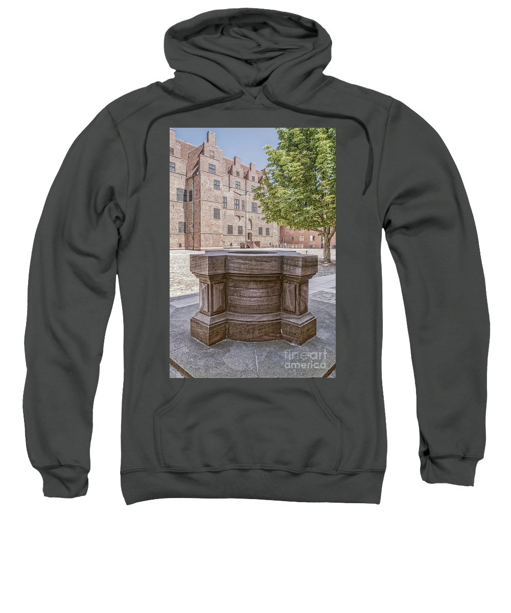 Old Sweatshirt featuring the photograph Malmohus Castle Courtyard by Antony McAulay