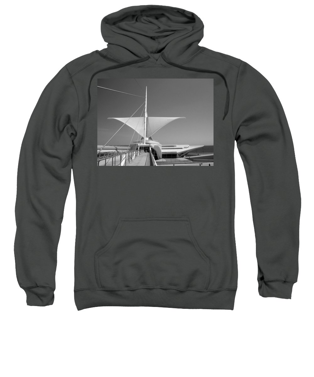 Mam Sweatshirt featuring the photograph Mam Wings Spread B-w by Anita Burgermeister